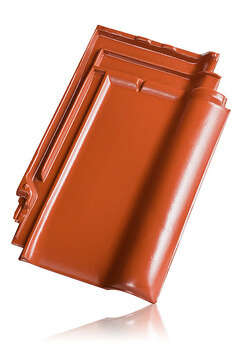 Wienerberger L15 užkaitinė čerpė, raudona angoba / Kunice